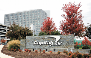 Capital One Financial Corp. has signed a lease to move 350 professionals from the Chicago suburbs into new office space in the Windy City's downtown.