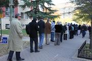 Voters lined up in Arlington on Tuesday to place their ballots for several  close races.