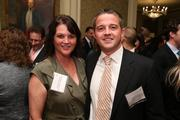 Shannon Jameson, left, of Dixon Hughes Goodman LLP, and John Warren of AH&T Insurance at the Fastest Growing Companies Awards.