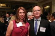 Tina Leone, left, from Ballston BID, and Bruno Grinwis from BBG-BBGM at the Fastest Growing Companies Awards.