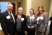 From FCi Federal, Jerry Sharpe, left, Ann Bassett, Karen Dickert, and Sharon Virts Mozer at the Fastest Growing Companies Awards.