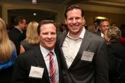 Matt Curry, left, president and CEO of Curry's Auto Service, with Greg Foscato from Washington Nationals Baseball Club at the Fastest Growing Companies Awards.