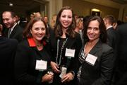Sheryl Schwartz, left, from Blue Canopy Group LLC, with Jessica Schwartz and Nancy Stevens from WTOP/Federal News Radio at the Fastest Growing Companies Awards.