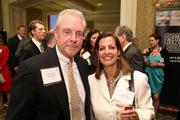 Jim Herbert, left, from Loudoun Economic Development, with Linda Wilson from Flexforce Professionals, LLC at the Fastest Growing Companies Awards.
