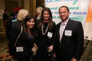 Tanya Nazarian, from left, of Monumental Sports & Entertainment, with Annie Grimm and Michael Berkman, both from Celerity IT, at the Fastest Growing Companies Awards.