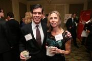 From CFN Services, Will Fleming, left, and Elizabeth Fleming at the Fastest Growing Companies Awards.