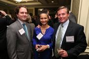 Jason Northcutt, left, from Sheppard Mullin Richter & Hampton, with Resha Fletcher and Darren Womer, both from Clear Gov Solutions, at the Fastest Growing Companies Awards.