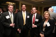 From Business Benefits Group, Derek Wilson, from left, Thomas Williams, Brandon Downs and Rachel Campbell at the Fastest Growing Companies Awards.