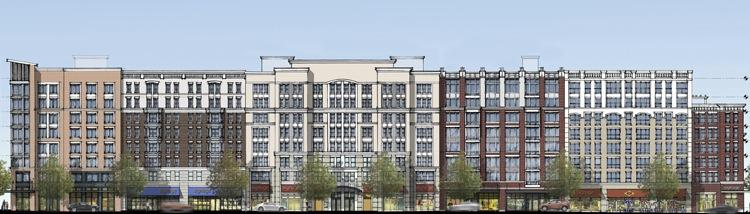 A rendering of Jefferson MarketPlace, delivering soon in Shaw.