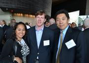 From left, Marilyn Kirby, corporate relationship specialist at Anchor Construction Corporation; Duncan Slidell, vice president and director of operations of Bozzuto Homes Inc.; and Wensheng Liang, vice president of business development and marketing at Anchor Construction Corp.