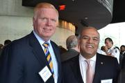 Jim Dinegar, left, president and CEO of the Greater Washington Board of Trade, with Piyush Sodha of Kastle Systems.
