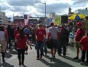 Fans outside Nationals Park two hours before Game 3 of the National League Division Series.