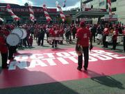 The fans were entertained before the game at Nationals Park on Wednesday by several bands and musicians.