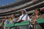 More than 200,000 people sought tickets to the Mass at the stadium, which had been open less than one month at the time.