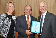 From left, Juli Dennis, director of Wellness and Population Health Management at USI Insurance Services; Dennis Parnell of Suburban Hospital; and Washington Business Journal Publisher Alex Orfinger.