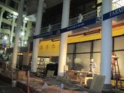 Construction continues even after dark on another Washington Harbour restaurant, Farmers, Fishers & Bakers, due to open Nov. 7.