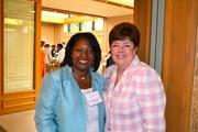 Rosie Allen-Herring from Fannie Mae, left, with Candy Duncan, managing partner at KPMG,at the Women Who Mean Business breakfast.