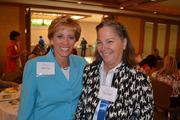 Capital One Bank's Denise Pope, left, and Mary Andersonat the Women Who Mean Business breakfast.