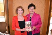 """Co-authors of """"How Women Lead,"""" Laura Henderson, left, and Sharon Hadaryat the Women Who Mean Business breakfast."""