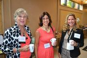 From left, Susan Peterson, founder and chair of The Communication Center, Karen Kalantzis from Corporate Network Services and Alaina Goldense from The Communication Centerat the Women Who Mean Business breakfast.