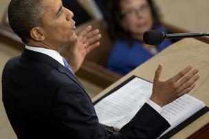 President Barack Obama gives his State of the Union address on Tuesday.