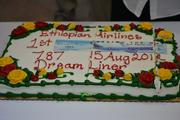 A cake was made in honor of Ethiopian Airlines' Boeing 787 Dreamliner.