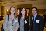 From Aronson LLC, Melissa Tarkett, left, Dawn Bailey and Faraz Hamedani.