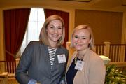 Kate Liscinsky, left, of Seamless with Lisbeth Zelle of the Business Journals.