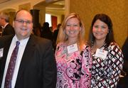 From James G. Davis Construction, Jonathan Dougherty, left, Sarah Keene and Kathy O'Grady.