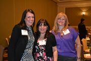 From Wells Fargo Insurance, Marketing Consultant Anne Volz, left, Myrna Smith and Toby Roomets.