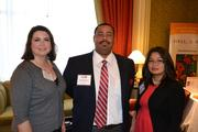 From HITT Contracting Inc., Keri Walls, left, Wendolyne Buckner and Thu Hoang.