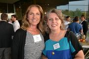 Heike Yates, left, of HEYlifetraining LLC and Renee Lewis of Pensare Groupat Cadre's Event of Business Awesome.