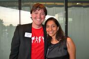 Joey Coleman of Design Symphony with Zainab Zaki, co-founder of Tappedin, at Cadre's Event of Business Awesome.