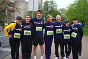 "Capital One associates participate in a race during the company's 2011 ""Get Active"" health and fitness challenge."