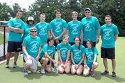 Employees from CapitalSource participate in the Playworks Kickball Tournament.