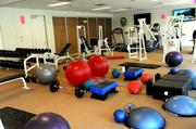 The onsite gym at CapitalSource Inc.