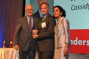 Joseph Stettinius, Jr., the new CEO of Cassidy Turley, was honored with the Corporate Leadership Award from CREW D.C.