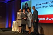CREW D.C.'s Outstanding Impact Award was given to Grace Huebscher from Beech Street Capital.