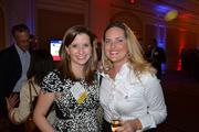 Tracey Lawhon, left, from Bognet Construction Associates, with Erin Cole from Mortensen Woodwork at the CREW D.C. Awards.
