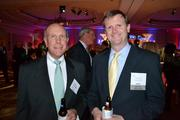 Bill Chambers, left, from CRS, with Tom Morey from Washington REIT at the CREW D.C. Awards.
