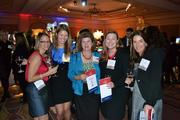 Larisa Ramich, from left, of Haynes Whaley Associates, Renee Meador from Haynes Whaley Associates, Kristine Oppenheim from Bognet Construction, Heather Seich from Trammell Crow Company, and Amy Hibler from Gensler at the CREW D.C. Awards.