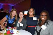 Kristine Oppenheim, from left, of Bognet Construction, Carolyn Due from Saul Ewing LLP, Anitra Androh from Saul Ewing LLP, and Kaleena Francis from Jair Lynch Development Partners at the CREW D.C. Awards.