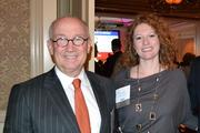 Ray Ritchey, left, of Boston Properties, with Olivia Millar from Millar + Associates at the CREW D.C. Awards.
