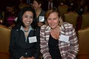 Ayesha Chaudhry, left, from BenStream Consulting, with Cindy Athey from Precision Wall Tech Inc. at the CREW D.C. Awards.