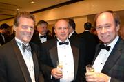 From left, Robert Sandler, president of Bernstein Management Corporation in D.C.; Charles Hathway; and real estate consultant Timothy Smith at the D.C. Building Industry Association's annual awards event.