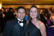 Left, James Gomez, president and CEO of the Malrite Company, with Grace Harriett of Turner Construction Company.