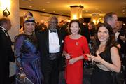 From left, D.C. Chamber of Commerce President Barbara Lang and her husband Gerald Lang; Emily Durso, former president of the Hotel Association of Washington D.C.; and Leona Agouridis, executive director of Golden Triangle BID, at the D.C. Building Industry Association's annual awards event.