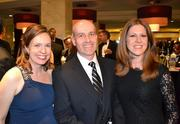 From left, Kelly Nagel, Graham Tyrrell, vice president of Archstone in Alexandria, and Rebecca Snyder at the D.C. Building Industry Association's annual awards event.