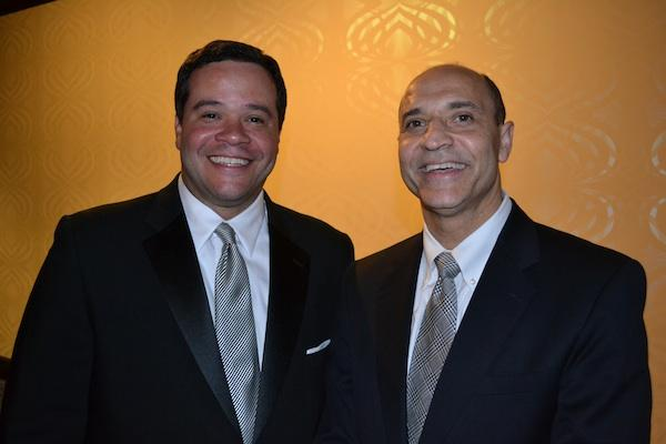 Ernie Jarvis, left, DCBIA president and senior vice president at First Potomac Realty Trust, with D.C. Deputy Mayor for Planning and Economic Development Victor Hoskins at the D.C. Building Industry Association's annual awards event.