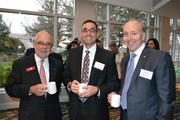 Ray Hrabec, from left, of Cardinal Bank, Joe DiStefano, and Ken Carson from Cardinal Bank at the Greater Washington Economic Conference.